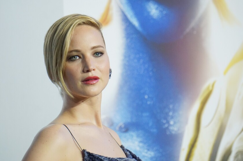 """Actress Jennifer Lawrence attends the """"X-Men: Days of Future Past"""" world premiere in New York City."""