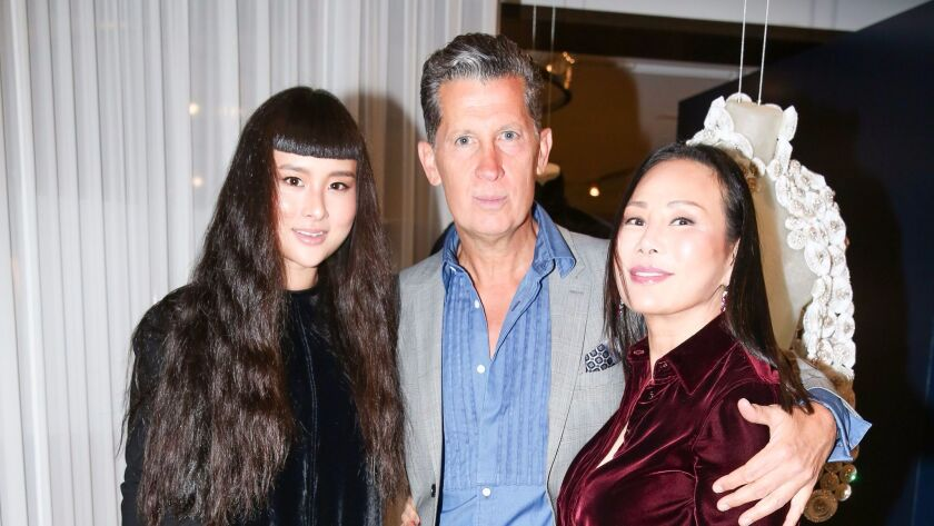 From left, Asia Chow, Stefano Tonchi and Eva Chow