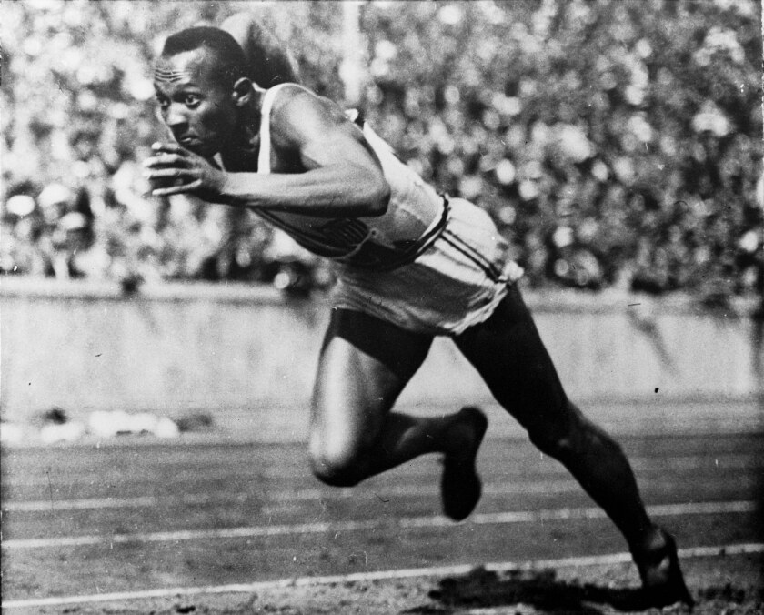 Jesse Owens at the 1936 Berlin Olympics.