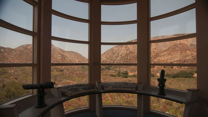 View of Mission Gorge from Mission Trails Regional Park visitor center.
