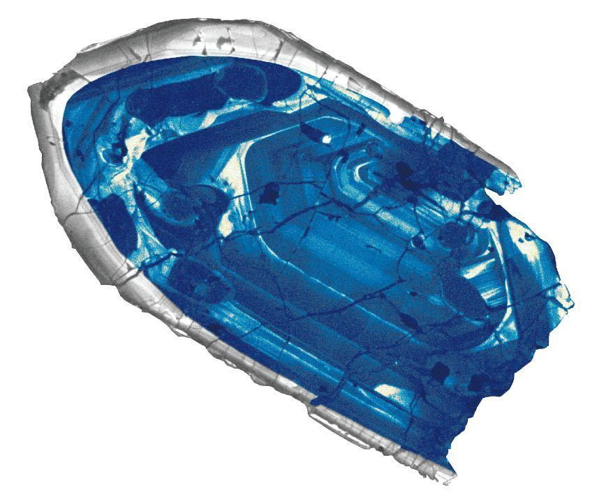 A 4.4-billion-year-old zircon crystal is the oldest material ever found on Earth.