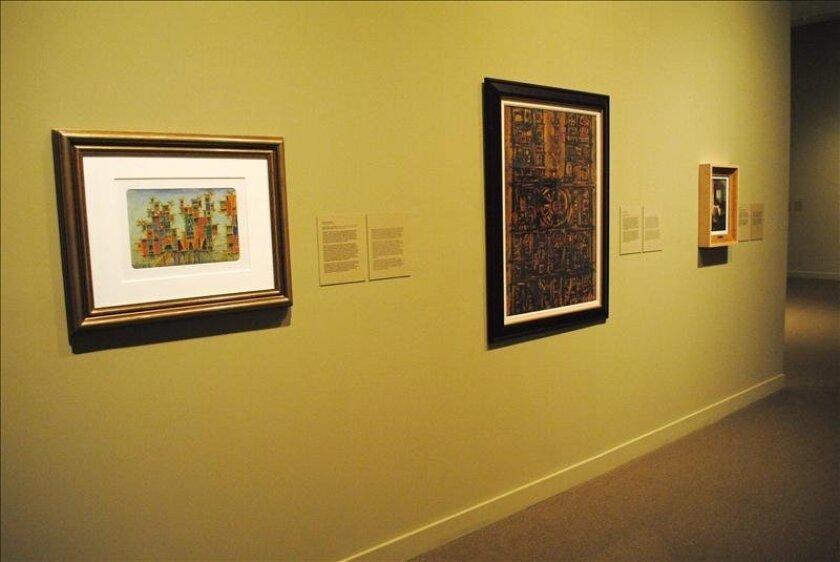 Vista de unas obras expuestas el 28 de mayo de 2013 en el Museo de Arte de Miami. EFE/Archivo