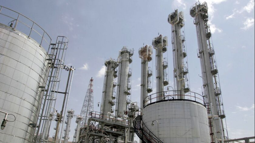 Iran's heavy water nuclear reactor in Arak.