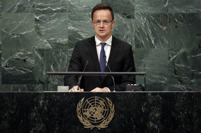Las políticas migratorias en el mundo han fracasado y llevado a la propagación del terrorismo, afirmó el viernes el ministro del exterior de Hungría ante la Asamblea General de Naciones Unidas.