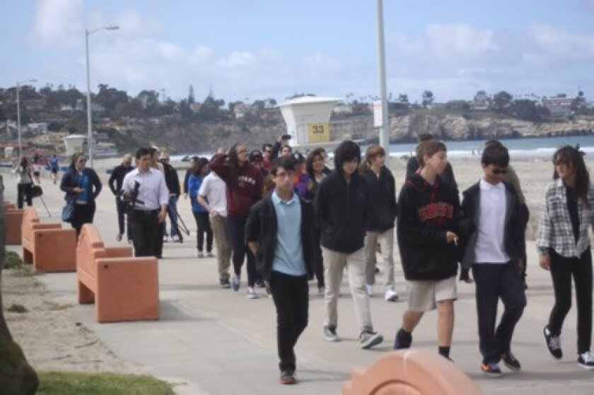 Students from Old Town Academy participate in an evacuation drill. Photo by Ashley Mackin