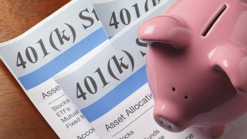 401k Statement with piggy bank, by DNY59, Getty photo ORG XMIT: CHI1406251234295076