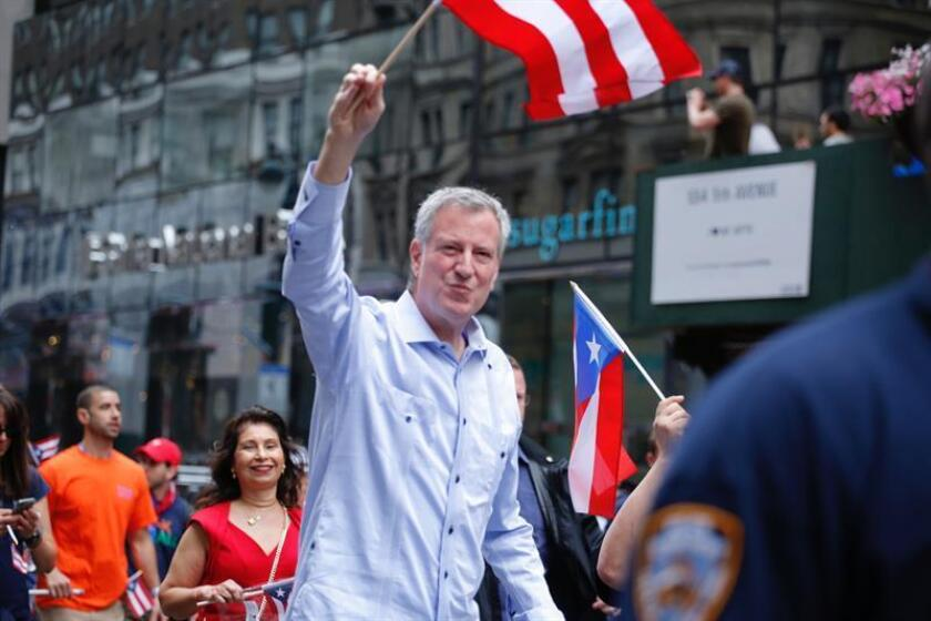 El alcalde de Nueva York, Bill de Blasio (c). EFE/Archivo