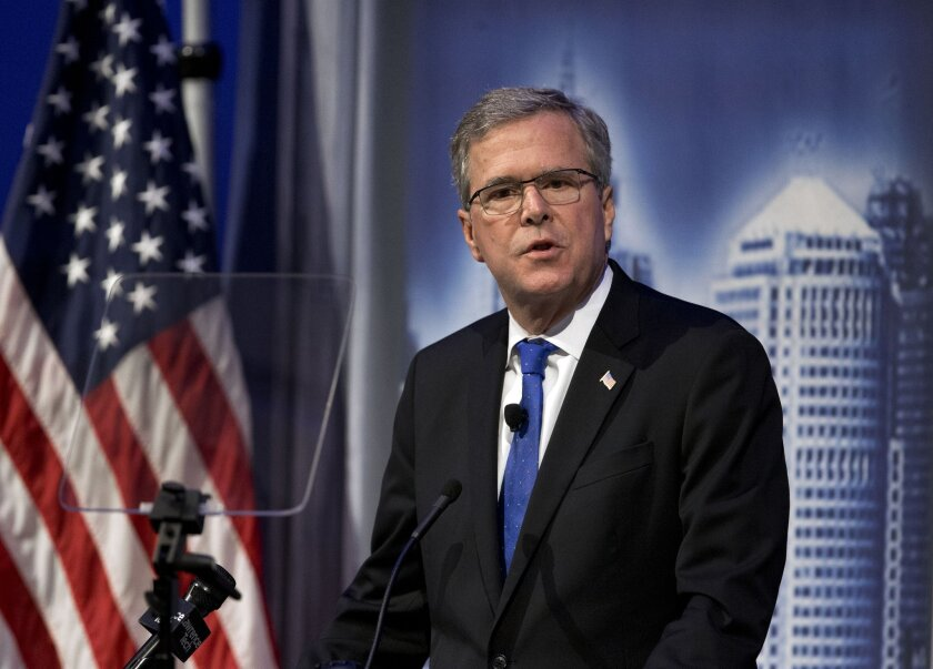 Former Florida Gov. Jeb Bush, who is expected to run for president in 2016, spoke Wednesday at the Detroit Economic Club.