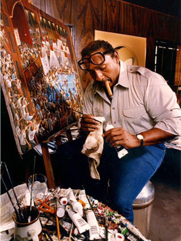 Ernie Barnes at work