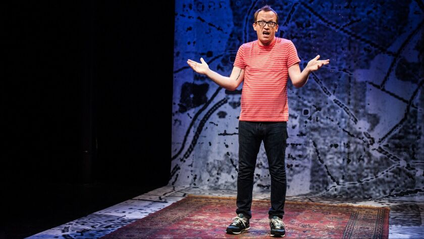 """Chris Gethard mines the tragedy -- and the dry comedy -- of depression in his one-man show, off-Broadway, """"Chris Gethard: Career Suicide."""""""