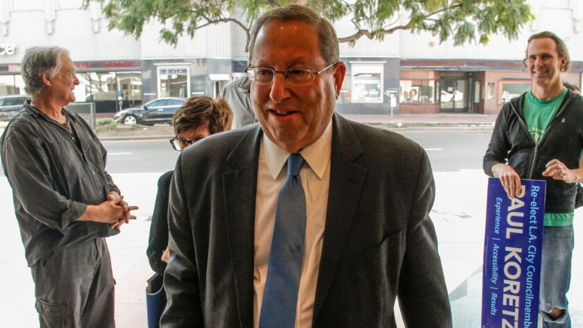 Los Angeles City Councilman Paul Koretz, currently running for reelection, won passage Wednesday of new measures designed to rein in mansionization.