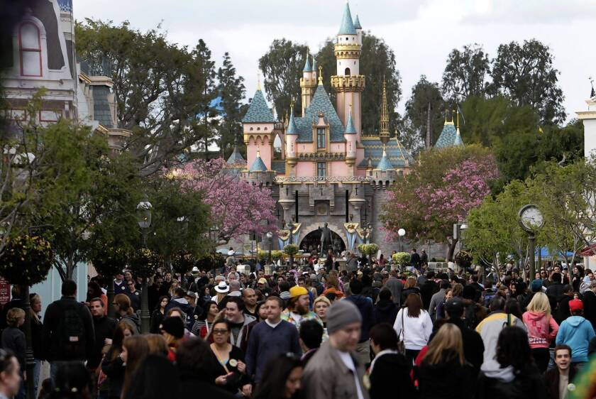 Disneyland officials say the new practice of photographing multiday pass holders did not cause significant delays at the entrance. Above, the theme park in February.
