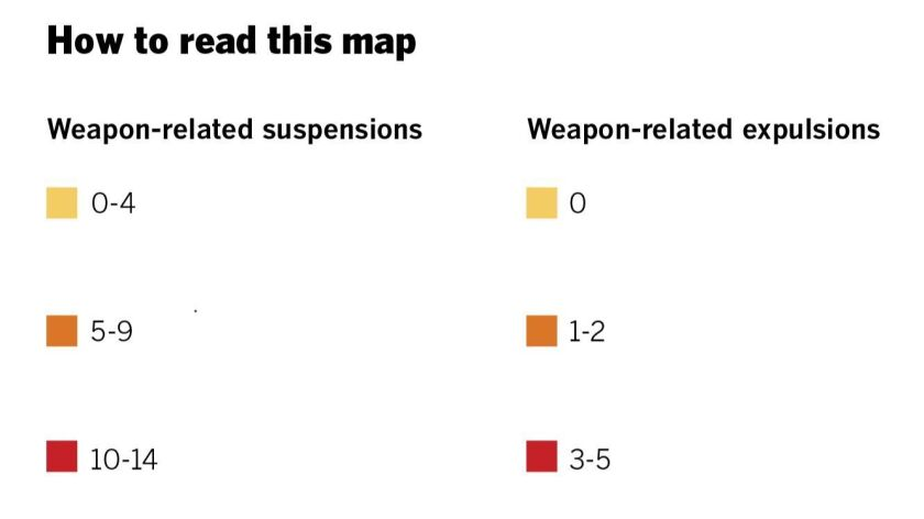Interactive map shows school expulsions, suspensions for weapons in San Diego County - The San Diego Union-Tribune