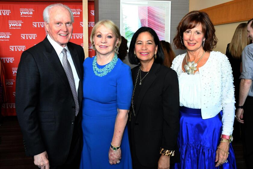 Ray Riley, Joyce Glazer (honoree), Dee Ammon, Barbie Spinazzola