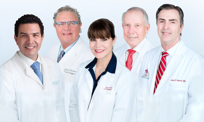 Shown here is the La Jolla Cosmetic Surgery Centre doctors group.