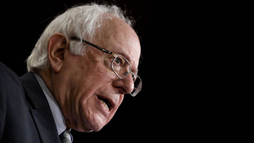 Sen. Bernie Sanders, a possible 2020 White House contender attends a press conference about Saudi-led war in Yemen - DC