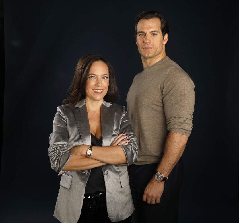 "Lauren Schmidt Hissrich and Henry Cavill of Netflix's ""The Witcher"""