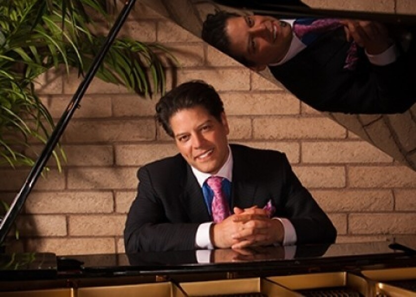 Pianist/singer George Bugatti will open the 2016-17 season for Community Concerts of Rancho Santa Fe on Oct. 21.