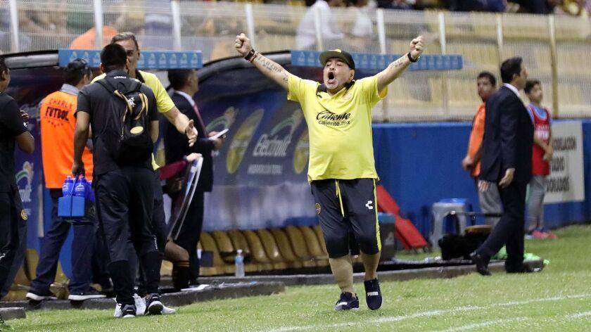 Diego Armando Maradona coach of Dorados