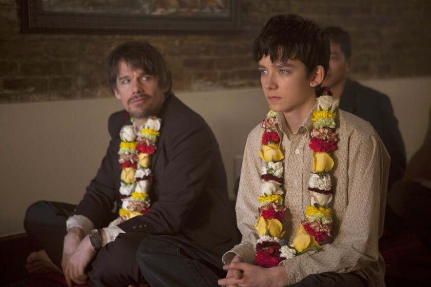 """Ethan Hawke, left, and Asa Butterfield in """"Ten Thousand Saints."""""""