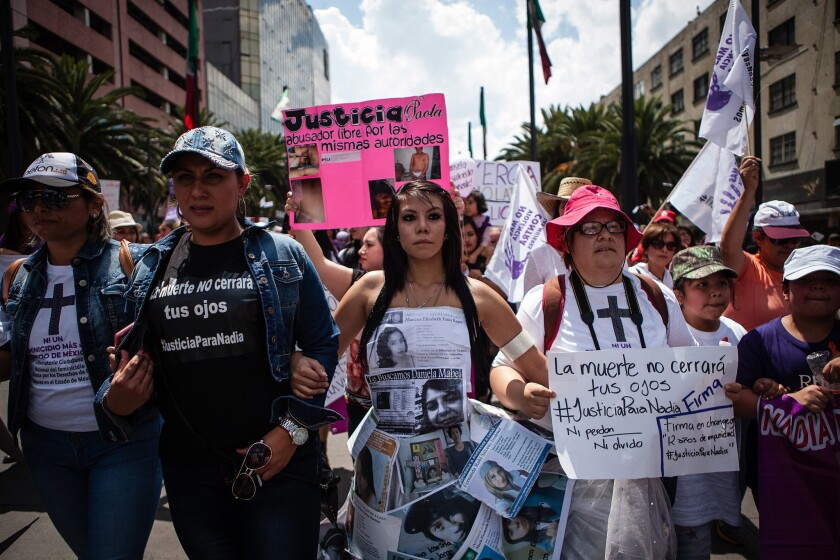 Mexican women protest sexual violence