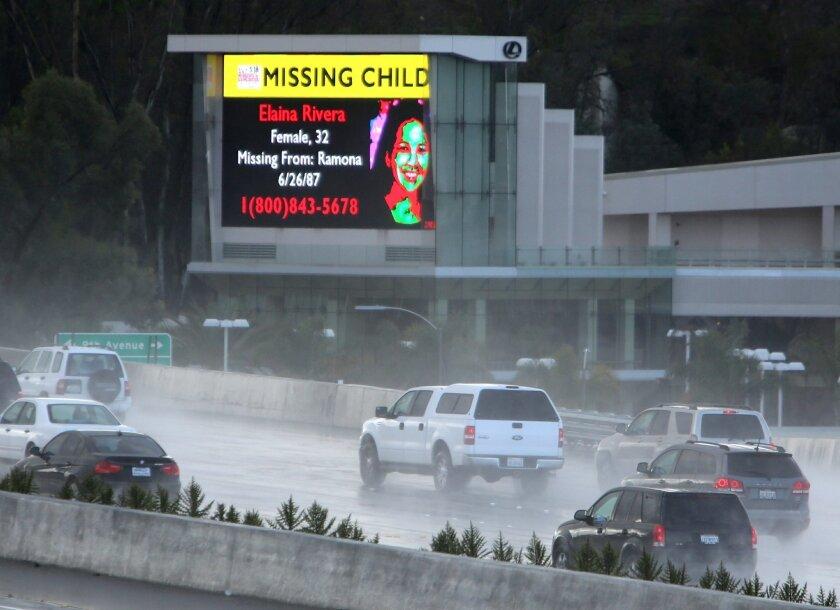 A digital billboard outside the Lexis dealership in Escondido.