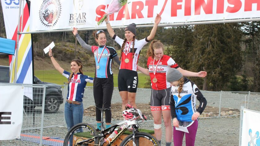 Ramona's Gwendalyn Gibson earns the top spot on the podium.