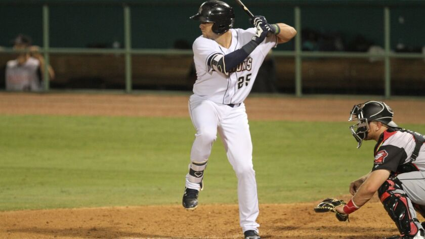 Padres minor league catcher Austin Allen started 2018 at Double-A San Antonio.