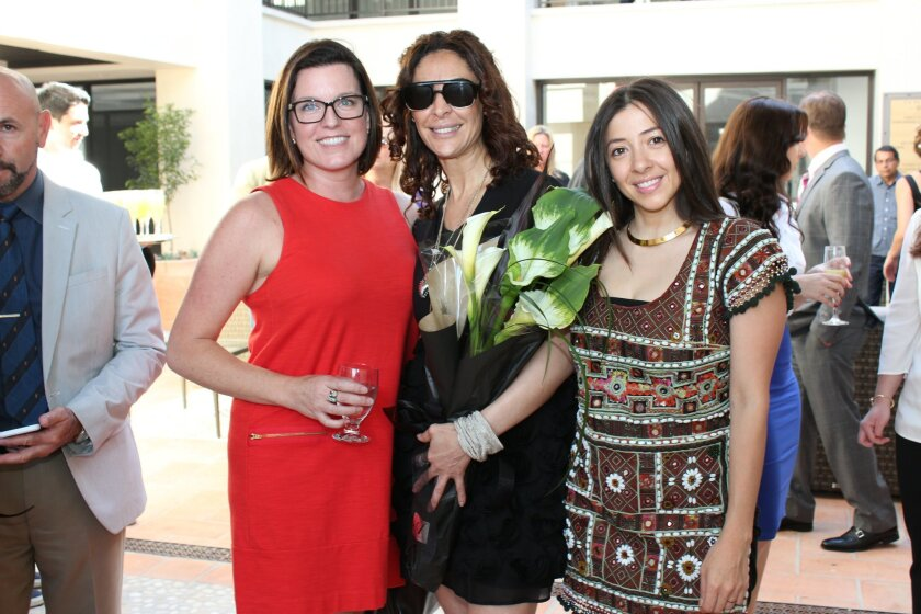 Marcelle McAfee of Davlyn Investments, Jalila Lissilaa of La Scarpa women's shoe boutique (opening april 1 in La Plaza) and Linsey Fisher