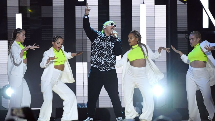 Daddy Yankee and dancers perform during the 2019 Billboard Latin Music Awards at the Mandalay Bay Events Center on April 25 in Las Vegas.