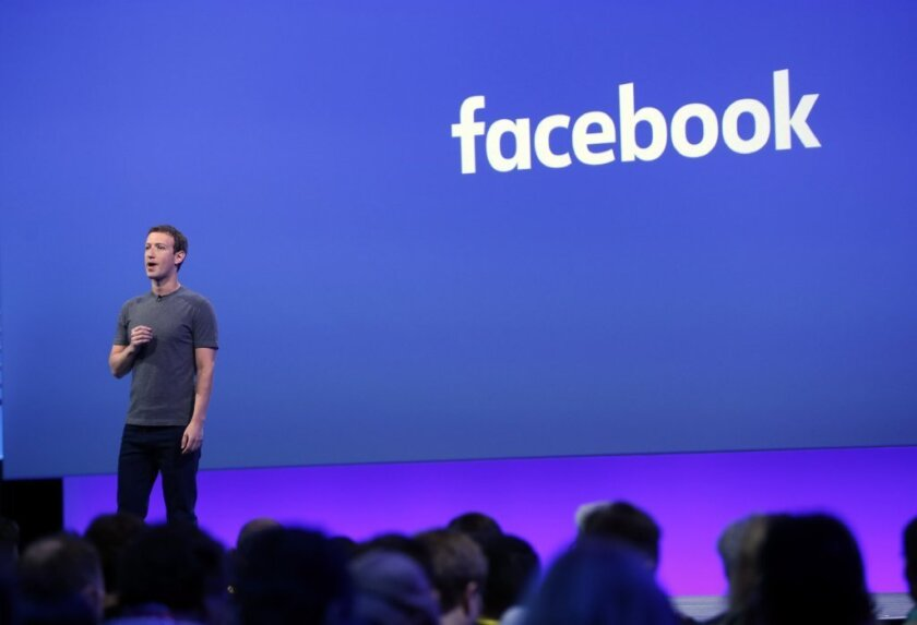 Mark Zuckerberg delivers the keynote speech at the Facebook's F8 Developers Conference.