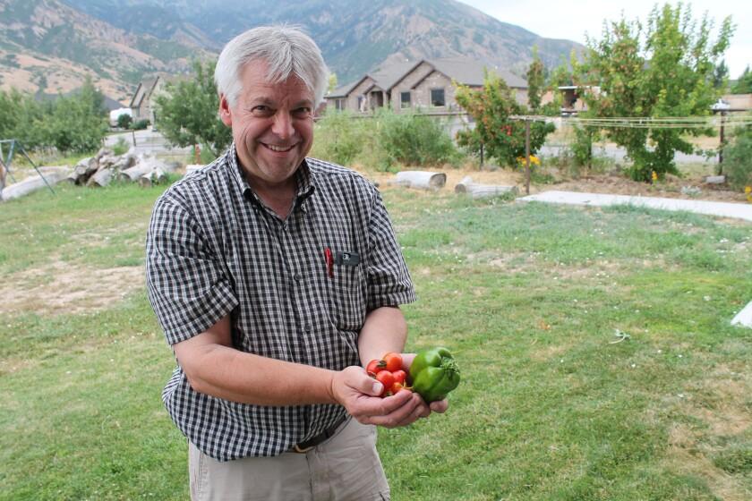Jonathan Jones and his home food supply