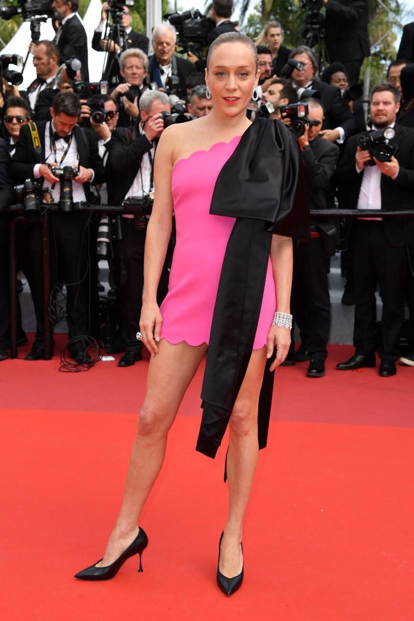 Chloë Sevigny in Miu Miu at the 2019 Cannes Film Festival.