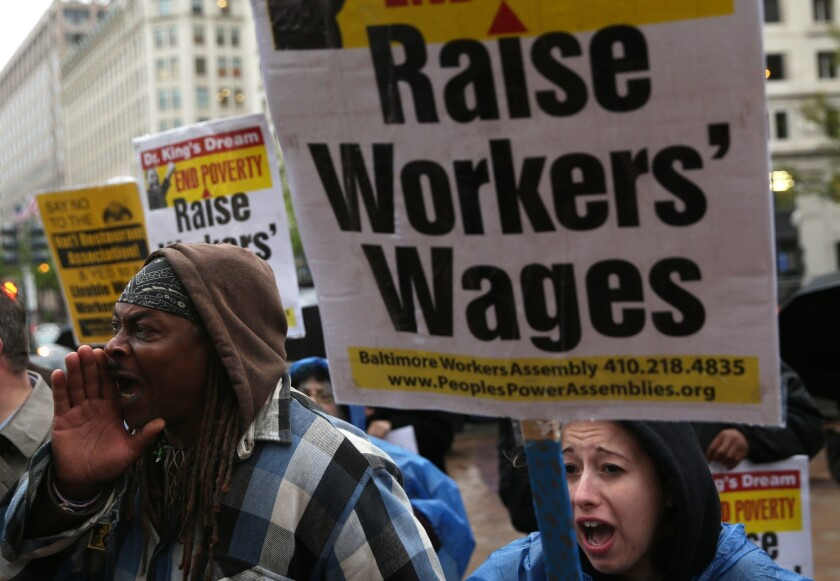 Many U.S. millionaires support raising the minimum wage to offset deepening income inequality, according to a new poll.
