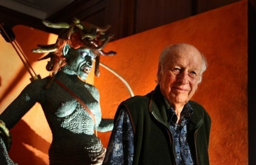 Special effects creator Ray Harryhausen.
