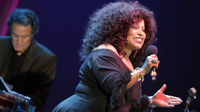 "Chaka Khan performs at ""Joni's Jazz"" concert at the Hollywood Bowl in 2011."
