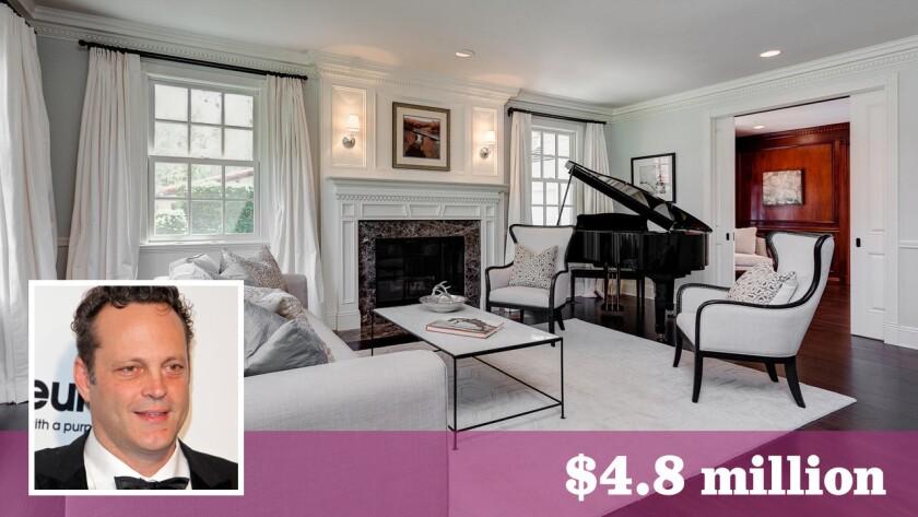 Actor Vince Vaughn has sold his home in La Cañada Flintridge for $4.8 million.