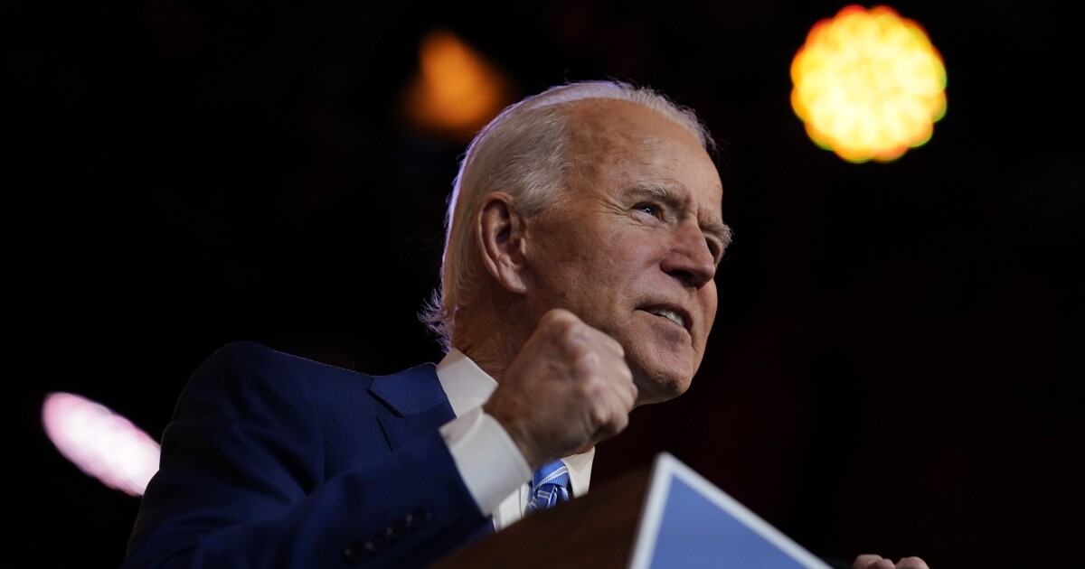 Biden steps into leadership vacuum to reassure Americans with Thanksgiving address