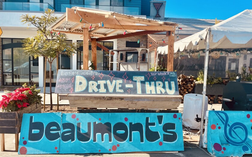 Beaumont's in Bird Rock has switched to a drive-through format in response to a regional shutdown of in-person dining.