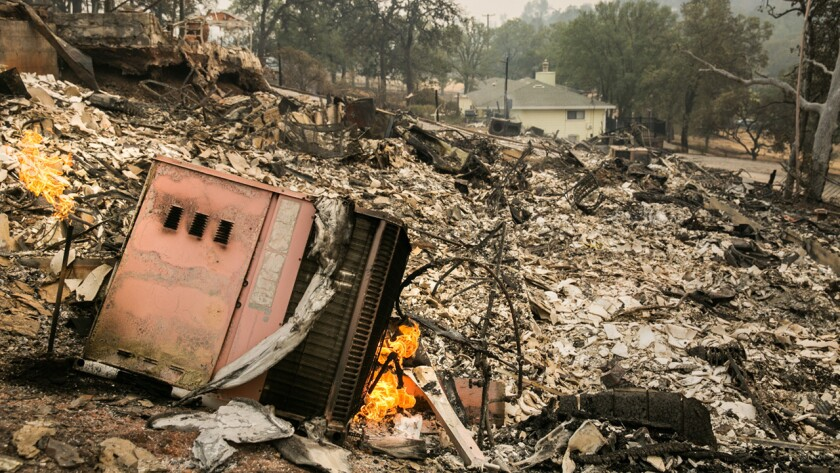 Aftermath of the Valley fire in Hidden Valley Lakes.