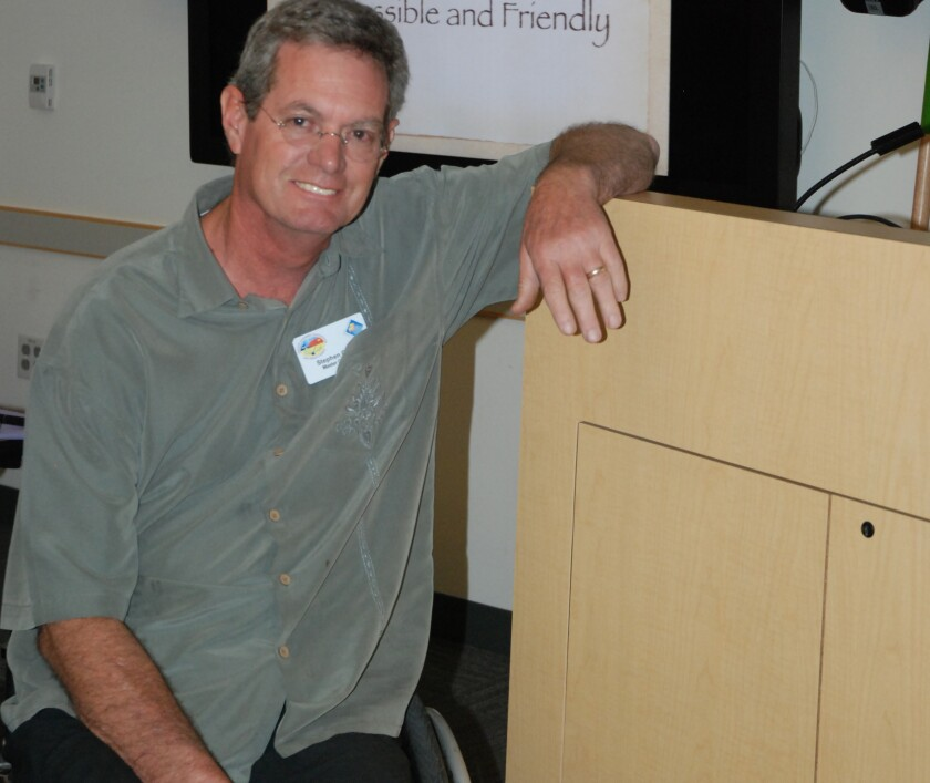 Master Gardener Stephen Cantu at one of his presentations.