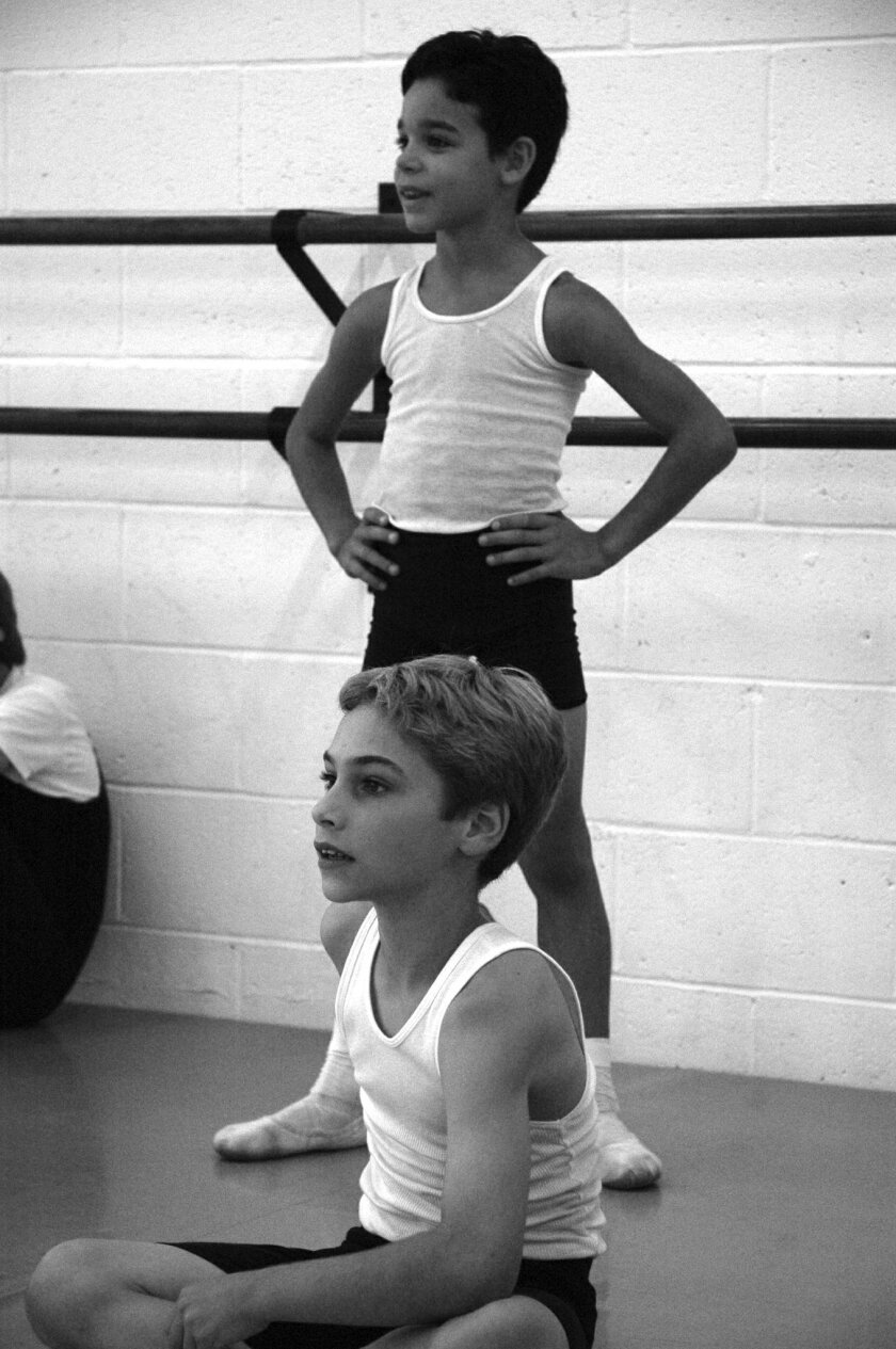 <p>  David Alvarez (top) and Kiril Kulish at the San Diego Academy of Ballet.  <em>     Maxim Tchernychev, San Diego Academy of Ballet  </em> </p>