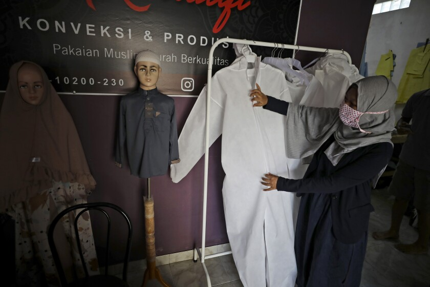 Virus Outbreak Indonesia One Good Thing Hazmat Suits