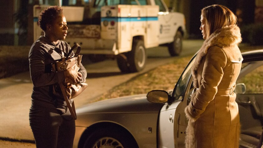 "Viola Davis and Jennifer Lopez in ""Lila & Eve."""