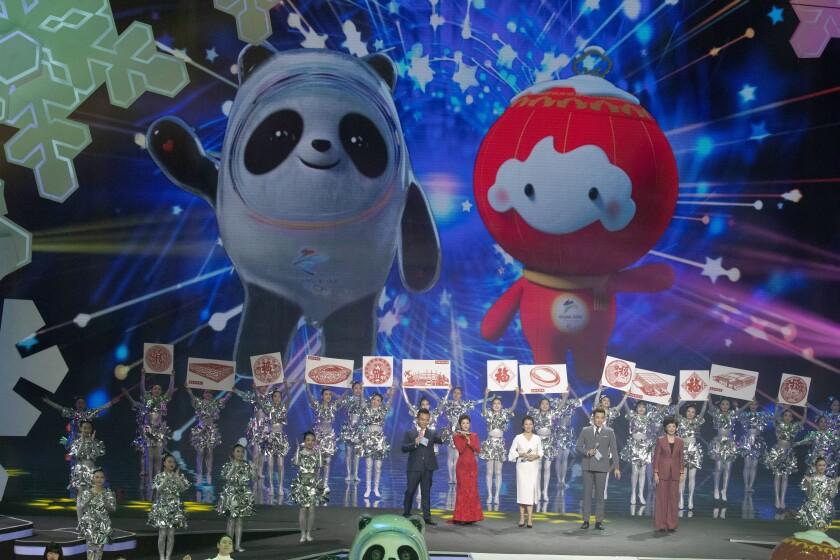Beijing 2022 Winter Olympic mascot Bing Dwen Dwen and 2022 Winter Paralympic Games mascot Shuey Rong Rong are revealed