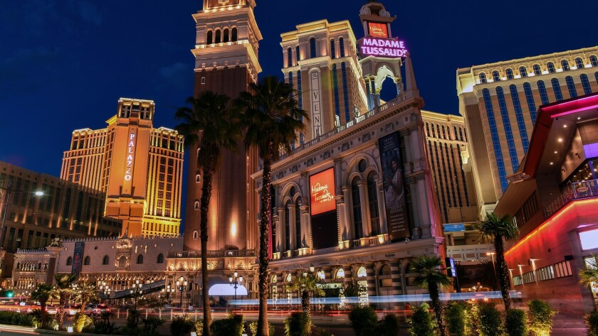 The Palazzo and the Venetian, right, offer complimentary self- and valet parking.