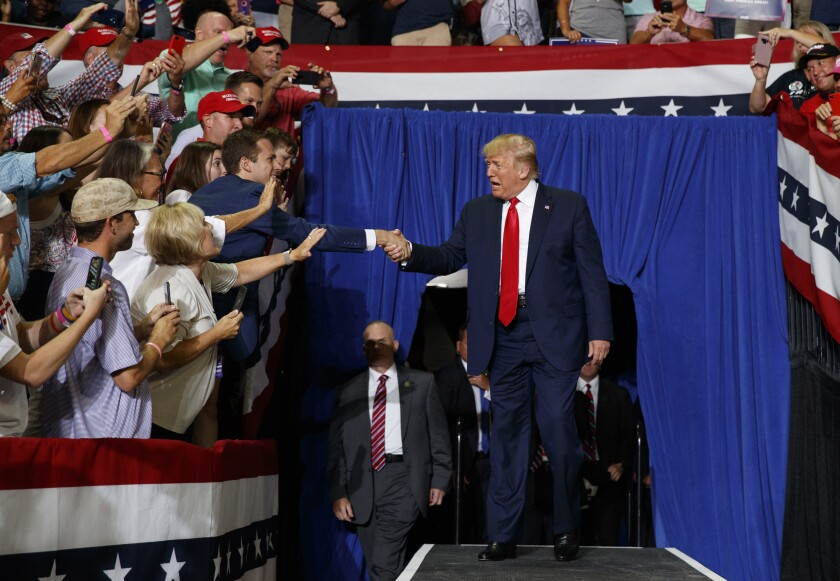 President Trump in Greenville, N.C.