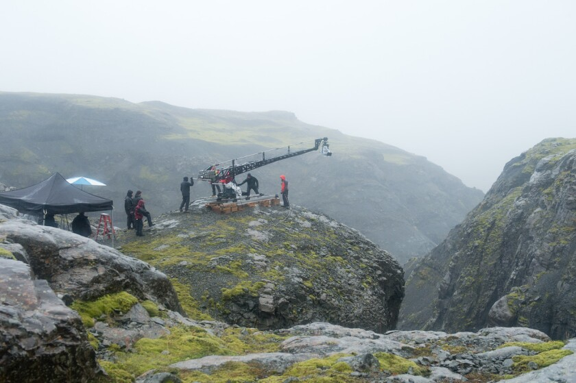 "Filming of ""Walter Mitty"" in Iceland"