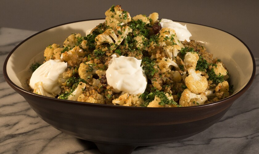 Recipe: Roasted cauliflower with freekeh