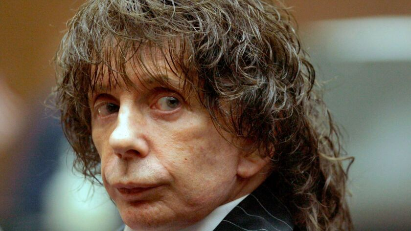 Phil Spector in 2008, during a hearing in Los Angeles County Superior Court.